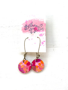 Colorful, Hand Painted Earrings 160