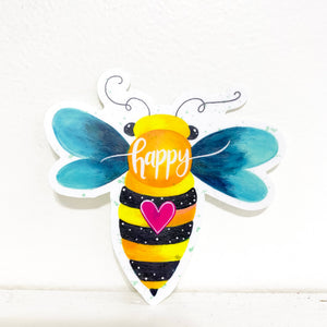 Bee Happy Vinyl Sticker March 2021 Sticker of the Month