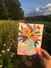 "Load image into Gallery viewer, August Daily Painting Day 19 ""Mountain Wildflowers"" 5x7 inch Floral Original - Bethany Joy Art"
