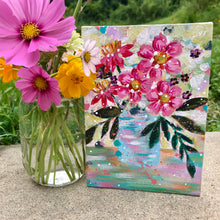 "Load image into Gallery viewer, August Daily Painting Day 29  ""Mint to Be"" 5x7 inch Floral Original - Bethany Joy Art"