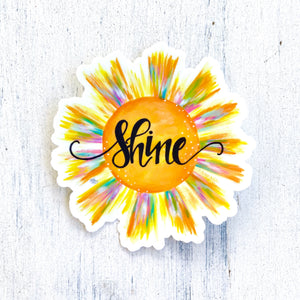 Shine Vinyl Sun Sticker - January Sticker of the Month - Bethany Joy Art