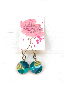 Colorful, Hand Painted Earrings 153