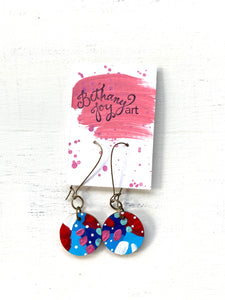 Colorful, Hand Painted Earrings 86