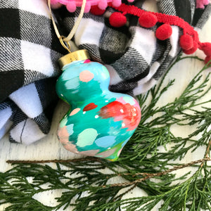 Multi-colored Hand-painted Ceramic Christmas Ornament #1