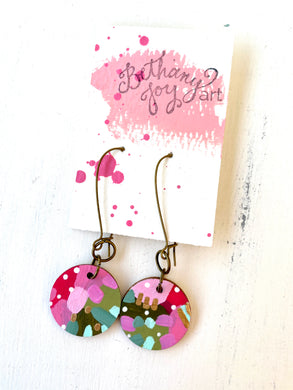 Colorful, Hand Painted Earrings 107