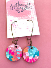 Load image into Gallery viewer, Colorful, Hand Painted Earrings 10 - Bethany Joy Art