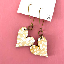 Load image into Gallery viewer, Colorful, Hand Painted, Heart Shaped Earrings 32