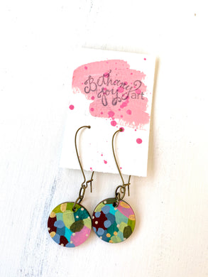 Colorful, Hand Painted Earrings 125