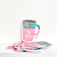 Load image into Gallery viewer, Filled with Joy Mug Vinyl Sticker - November Sticker of the Month