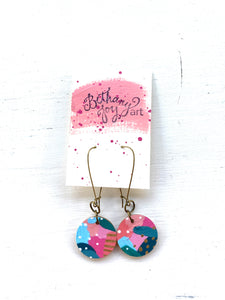Colorful, Hand Painted Earrings 156