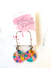Load image into Gallery viewer, Colorful, Hand Painted Earrings 120