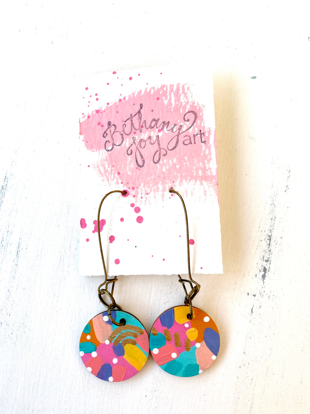 Colorful, Hand Painted Earrings 120