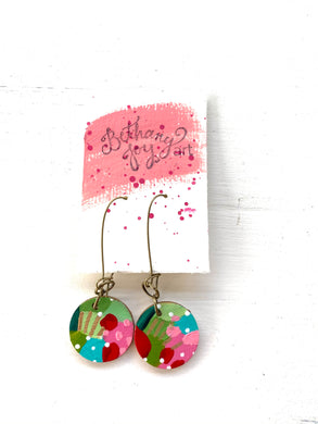 Colorful, Hand Painted Earrings 167