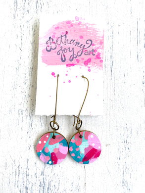 Colorful, Hand Painted Earrings 41 - Bethany Joy Art