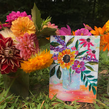 "Load image into Gallery viewer, August Daily Painting Day 8 ""It's a Smile"" 5x7 inch Floral Original - Bethany Joy Art"