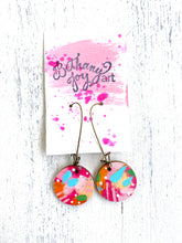 Load image into Gallery viewer, Colorful, Hand Painted Earrings 30 - Bethany Joy Art