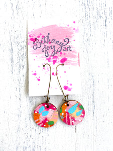 Colorful, Hand Painted Earrings 30 - Bethany Joy Art