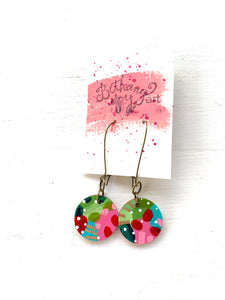 Colorful, Hand Painted Earrings 168