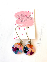 Load image into Gallery viewer, Colorful, Hand Painted Earrings 131