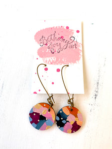 Colorful, Hand Painted Earrings 131