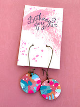 Load image into Gallery viewer, Colorful, Hand Painted Earrings 25 - Bethany Joy Art