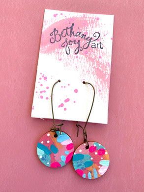 Colorful, Hand Painted Earrings 25 - Bethany Joy Art