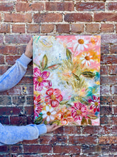 "Load image into Gallery viewer, ""Consider How the Wildflowers Grow 1"" Floral Original Painting on 24x20 inch canvas - Bethany Joy Art"
