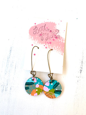 Colorful, Hand Painted Earrings 118