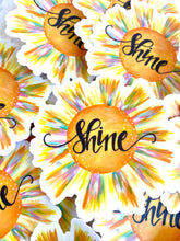 Load image into Gallery viewer, Shine Vinyl Sun Sticker - January Sticker of the Month - Bethany Joy Art