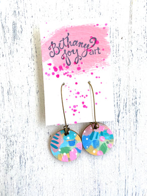 Colorful, Hand Painted Earrings 57 - Bethany Joy Art