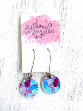 Load image into Gallery viewer, Colorful, Hand Painted Earrings 44 - Bethany Joy Art