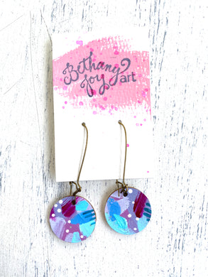 Colorful, Hand Painted Earrings 44 - Bethany Joy Art