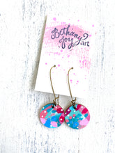 Load image into Gallery viewer, Colorful, Hand Painted Earrings 37 - Bethany Joy Art