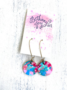 Colorful, Hand Painted Earrings 37 - Bethany Joy Art
