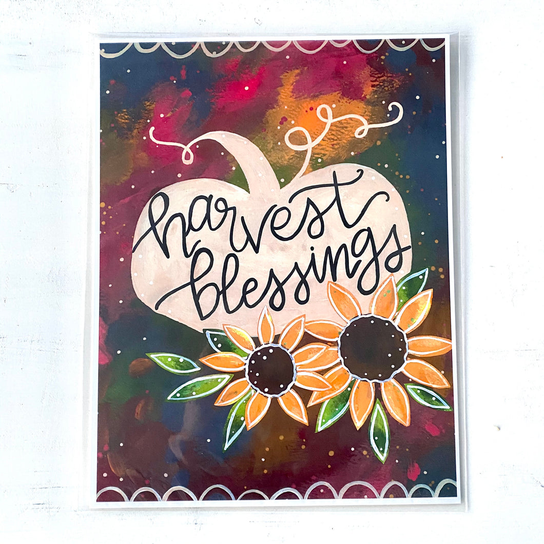 Harvest Blessings 8.5x11 inch art print