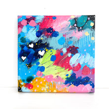 Load image into Gallery viewer, Little Hearts #5 6x6 inch abstract original canvas