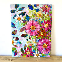 "Load image into Gallery viewer, ""Sunshine and Fresh Air"" Floral Original Painting on 24x20 inch canvas - Bethany Joy Art"