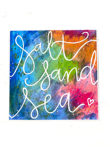 Salt, Sand, Sea 8x8 inch art print