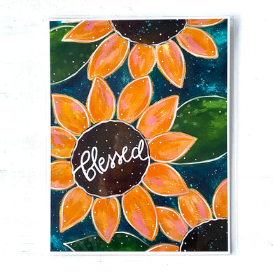 Blessed Sunflowers 8.5x11 inch art print