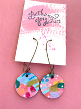 Load image into Gallery viewer, Colorful, Hand Painted Earrings 9 - Bethany Joy Art