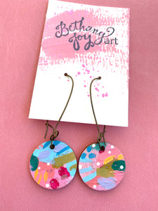 Colorful, Hand Painted Earrings 9 - Bethany Joy Art