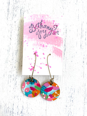 Colorful, Hand Painted Earrings 49 - Bethany Joy Art