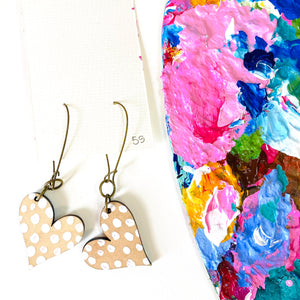 Colorful, Hand Painted, Heart Shaped Earrings 55