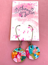 Load image into Gallery viewer, Colorful, Hand Painted Earrings 6 - Bethany Joy Art