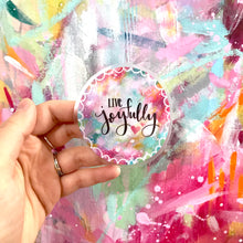 Load image into Gallery viewer, Live Joyfully Vinyl Sticker - Bethany Joy Art