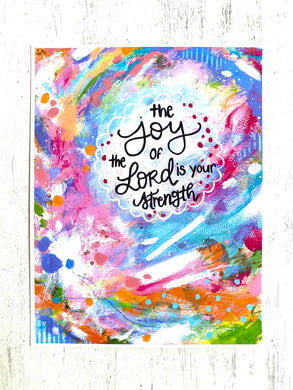 The Joy of the Lord 8.5x11 inch art print - Bethany Joy Art