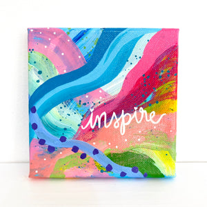 Inspire 5x5 inch abstract original canvas