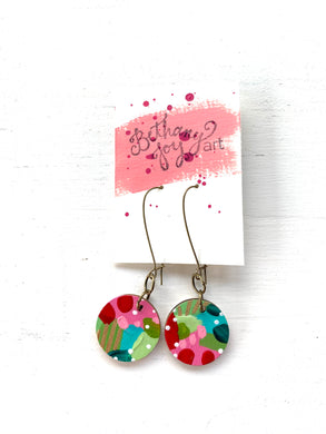 Colorful, Hand Painted Earrings 169