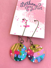 Load image into Gallery viewer, Colorful, Hand Painted Earrings 2 - Bethany Joy Art