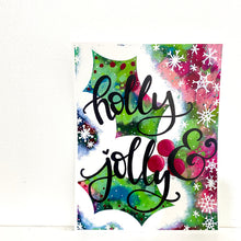 Load image into Gallery viewer, Holly & Jolly 8.5x11 inch holiday art print